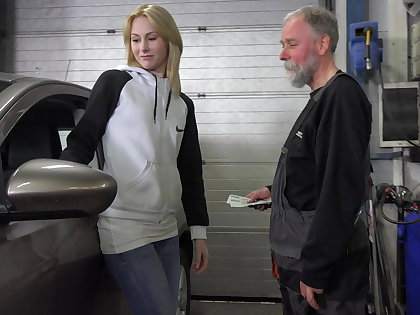 Frances takes in place be fitting of old goes young guy to land plum job