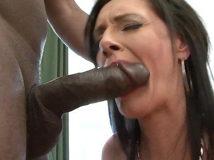 Interracial anal coitus roughly dirty matured pornstar Laura Dark