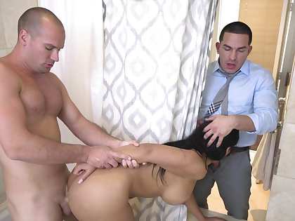 Wife cheats in the shower with hubby's best friend