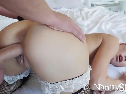 Horny nanny caught with her hand in her cookie jar! :o