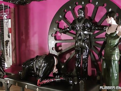 BDSM fetish loving femdom Cheyenne de Murie punishes her slave