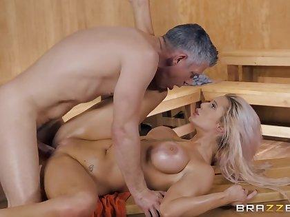 Luna Skye in insane sex scenes down at the sauna