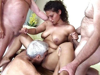 Incredible pornstar in powered mature, gangbang xxx video