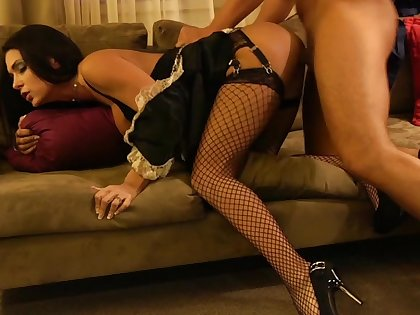 Jessica Jaymes in a maid's outfit, in my motel room!