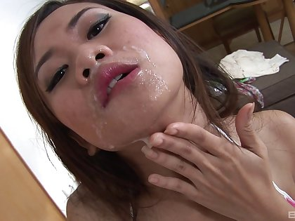 Blue Eve feeds her unshaved pussy with a friend's long pecker
