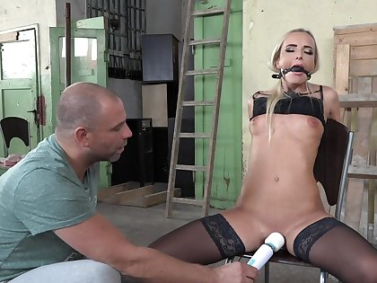 Pleasure and agony for duteous blonde beauty Victoria Pure