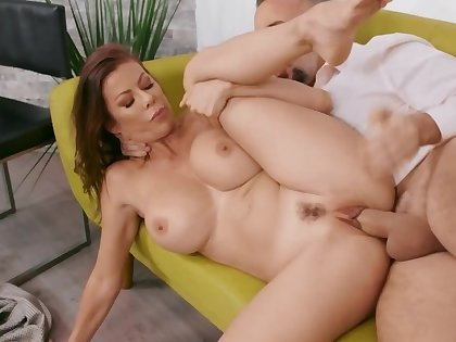 Big-boobied MILF wants to be fucked hard by husband's workmate