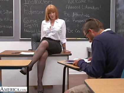 Prof. Sara Jay gives student will not hear of big ass!